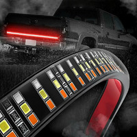 DC 12V Tri row LED Tailgate Light For Pickup Trucks Trailers Cars SUV RV VAN IP67 Waterproof Car Led Trailer Tail Lights