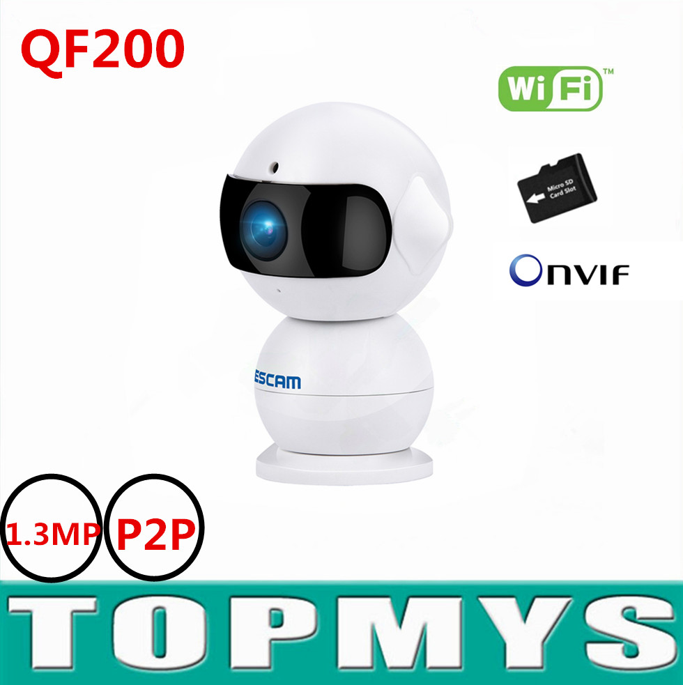 Escam robet Mini camera QF200 1.3MP 960HD camera IR CUT night vision indoor home security camera H.264 Onvif with TF card slot easyn a115 hd 720p h 264 cmos infrared mini cam two way audio wireless indoor ip camera with sd card slot ir cut night vision