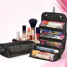 Make Up Cosmetic Bag Case Women Makeup Bag Hanging Toiletries Travel Kit Jewelry Organizer Cosmetic Case new arrive hot 2pc set portable jewelry box make up organizer travel makeup cosmetic organizer container suitcase cosmetic case