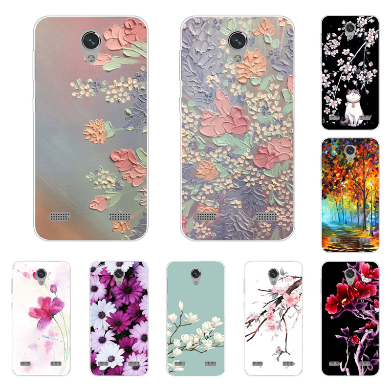 Zte Blade A520 Case,Silicon Full Flower Painting Soft TPU Back Cover For Zte Blade A 520 Protect Phone Bags