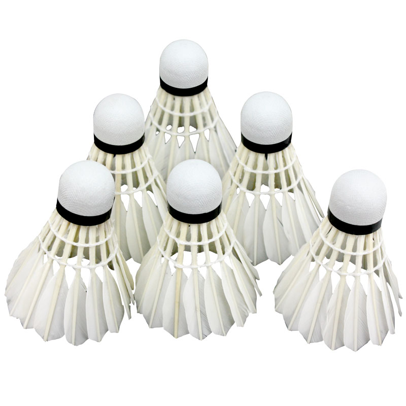 12pcs Goose Feather Badminton Shuttlecock Lenwave Brand Outdoor Sports badminton birdies Balls