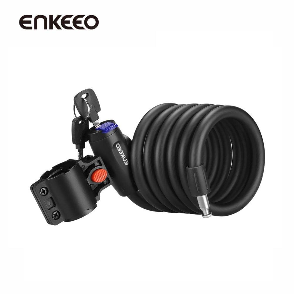 Enkeeo Bicycle Cable Lock Bike Lock Anti Theft Steel