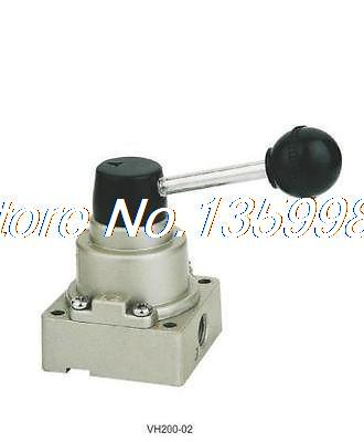 1pcs VH200-02 5 way 3 position 1/4 BSPT Hand Lever Air Valve Closed Center шапка piazza italia piazza italia pi022cwwph62