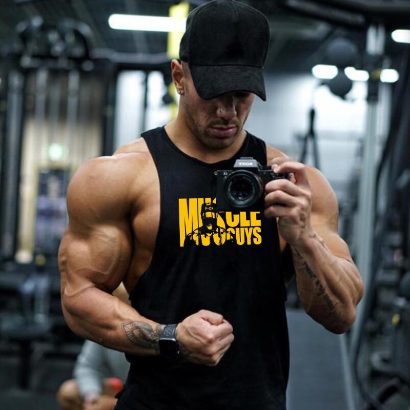 Muscleguys Cotton Gyms Clothing Men Bodybuilding   Tank     Top   Fitness World of   Tank   Animal Undershirt Y Back Stringer Vest Men
