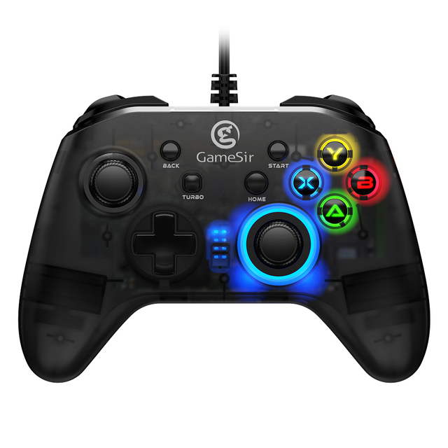 GameSir T4w Wired Controller USB Type-C Turbo Function Dual Vibration Joystick Gaming Gamepads for Windows PC