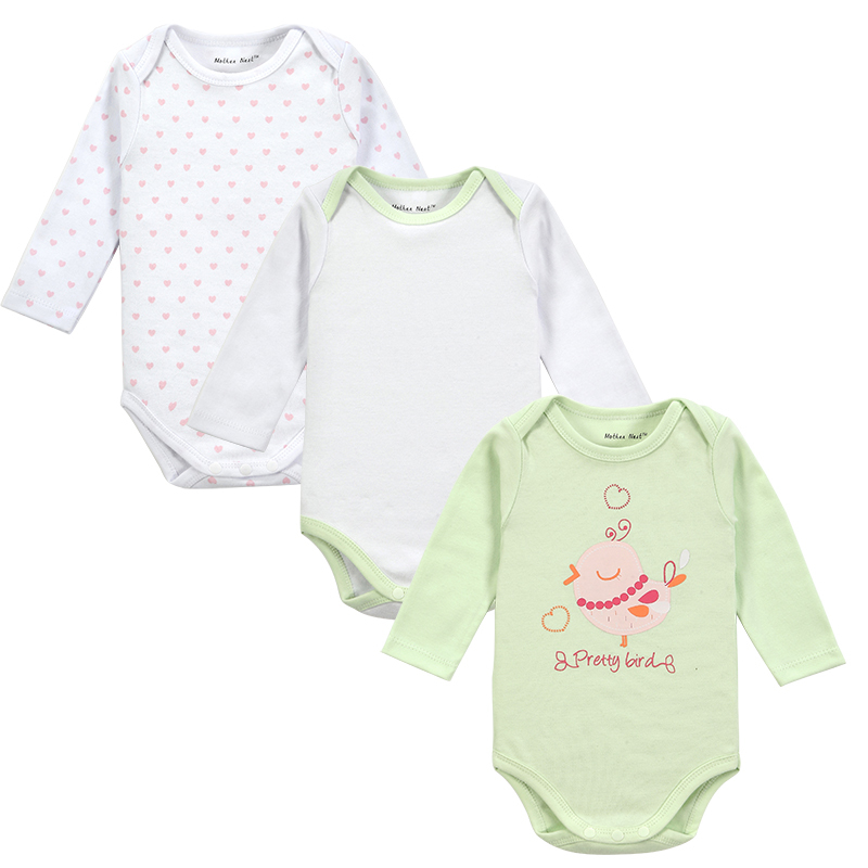 Varejo 3 peças/lote estilo dos desenhos animados bebê menina menino roupas de inverno novo corpo nascido bebê ropa bebê bodysuit