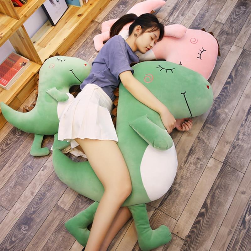 100 см Большой размер игрушки плюшевый динозавр домашнего интерьера набивная Подушка для сна украшения в подарок детям мягкий динозавр пода... - 3