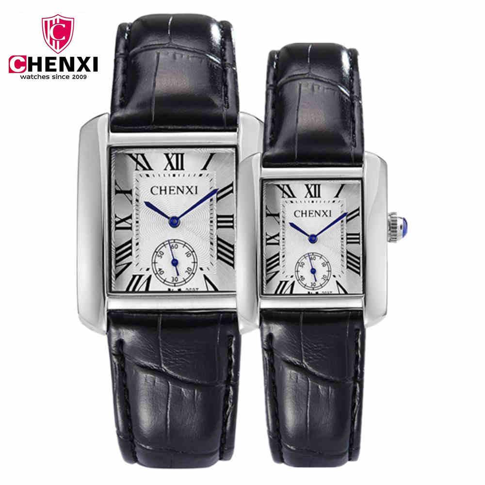 Hot CHENXI Brand Leather Strap Classic Women Business Women Quartz Watches Woman Ultra Thin Dial girls Lovers Watches PENGNATATE