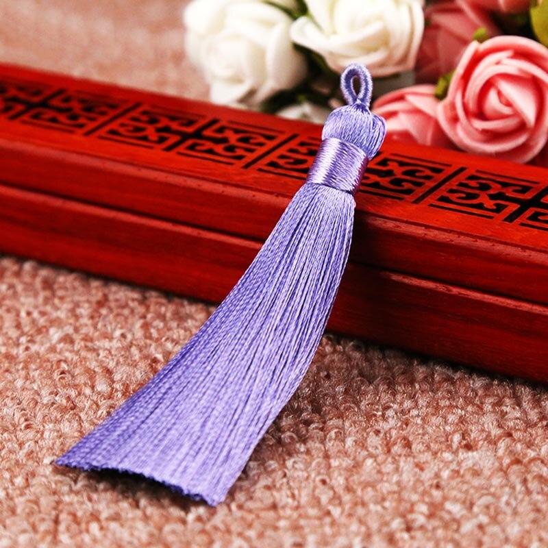 25 цветов, Новое поступление, высокое качество, горячая Распродажа, 1 шт., ручная работа, уникальные красивые шелковые кисточки, свадебные ювелирные аксессуары - Цвет: Light purple