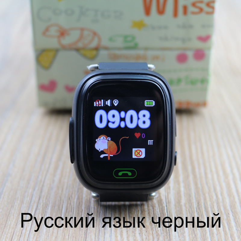 Original Kids Smart Watch Q90 GPS Watch Clock PK Q100 Touch Screen Wifi Location SOS Call Tracker Device With Anti-lose Sensor