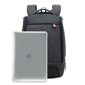 Image 5 - Reise Laptop Rucksack Smart Tasche 15,6 Notebook Rucksäcke Männer Frauen Halten Kühlen Große Taschen Außen Waterpoof Schwarz Bagpack Business
