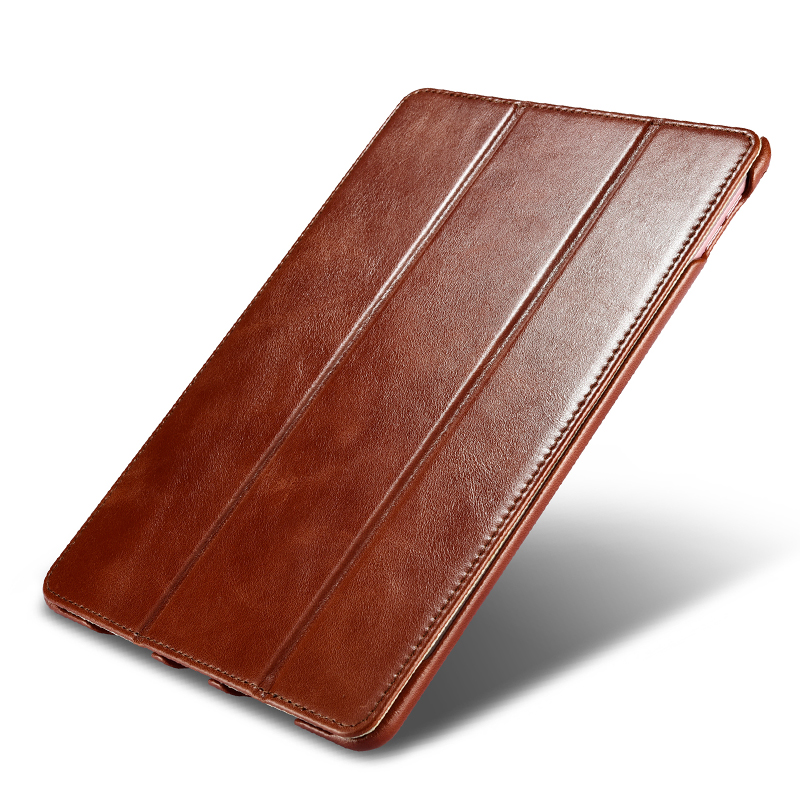 Original ICARER For iPad Pro 9.7 Case Vintage Genuine Leather Flip Folio Smart Case For iPad Pro 9.7 2016 Released Stand Cover luckbuy case for ipad pro 10 5 cute painted designs pu leather smart cover folio stand casual style case for ipad pro 10 5
