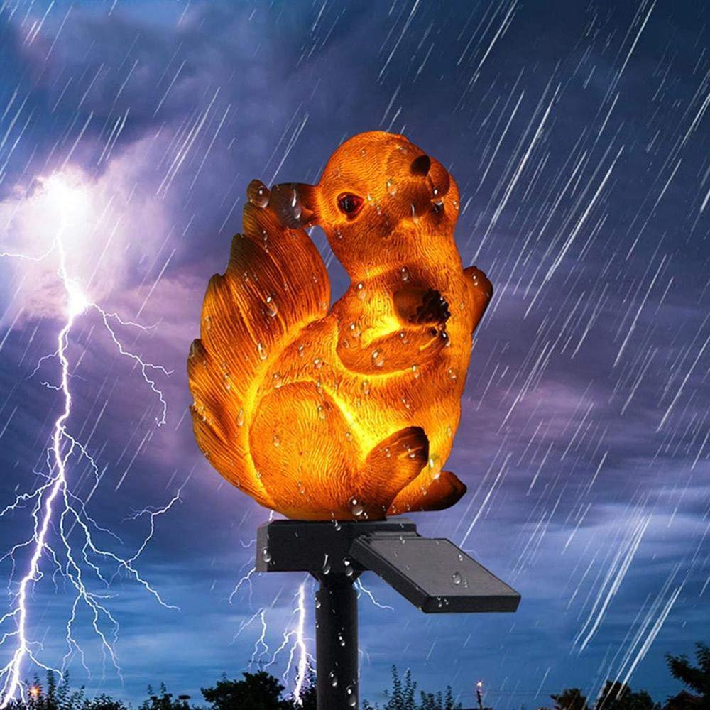 Garden Solar Lights Solar Lawn Light Squirrel Shape Animal Lamp Outdoor Lamp Waterproof Landscape Light Garden Stake Light