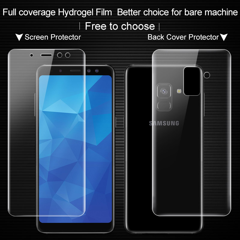 Imak Anti Glare Hydrogel 2th Generation Film for Samsung Galaxy A8 A8+ A8Plus Screen Protector 3D full Cover Protector Film
