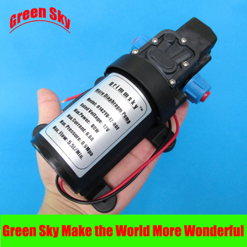 130PSI 5.5l/min 12v dc 80w automatic pressure switch type with cooling fan self priming pump automatic pressure switch type 80w 5 5l min high pressure dc 12v water pump self priming sprayer pump agriculture