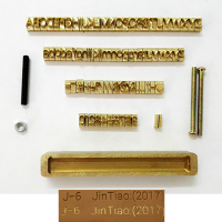 Brass Flexible Letters CNC Engraving Mold Hot Foil Stamping Die Number Alphabet Symbol Customization Font