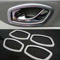 Hot sale! Matte ABS Interior door shake handshandle cover decoration sequins Car Accessories For Renault Captur 2014 2015