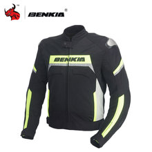 BENKIA Motorcycle Racing Jacket Breathable Mesh Spring Summer Autumn Body Armor Jersey Motorcycle Jacket Men Motorcycle Jacket