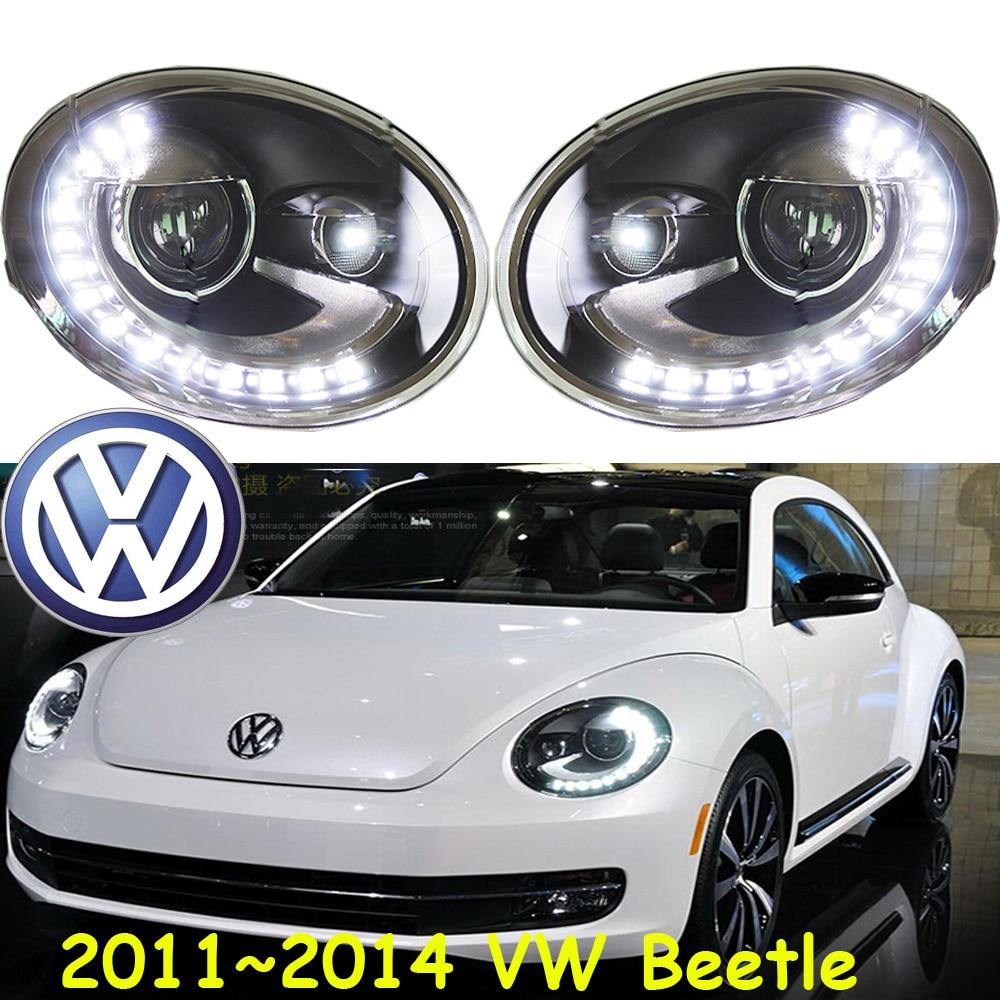 car-styling! Beetle headlight,2011~2016,Free ship!chrome,Beetle fog light,chrome,LED,2ps+2pcs Aozoom Ballast,Phaeton,Beetle велокомпьютер beetle 2 черный 060022