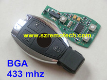 Free Shipping High quality 3 Buttons Smart Remote Key Remote Key With 433mhz NEC Chip For Mercedes Benz (2005-2008) BGA Sytle
