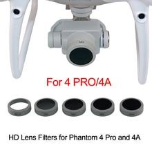 Lens filtre DJI Phantom 4 Pro için V2.0 gelişmiş Drone kamera UV CPL ND4 ND8 ND16 nötr yoğunluk dairesel polarize filtre kitleri