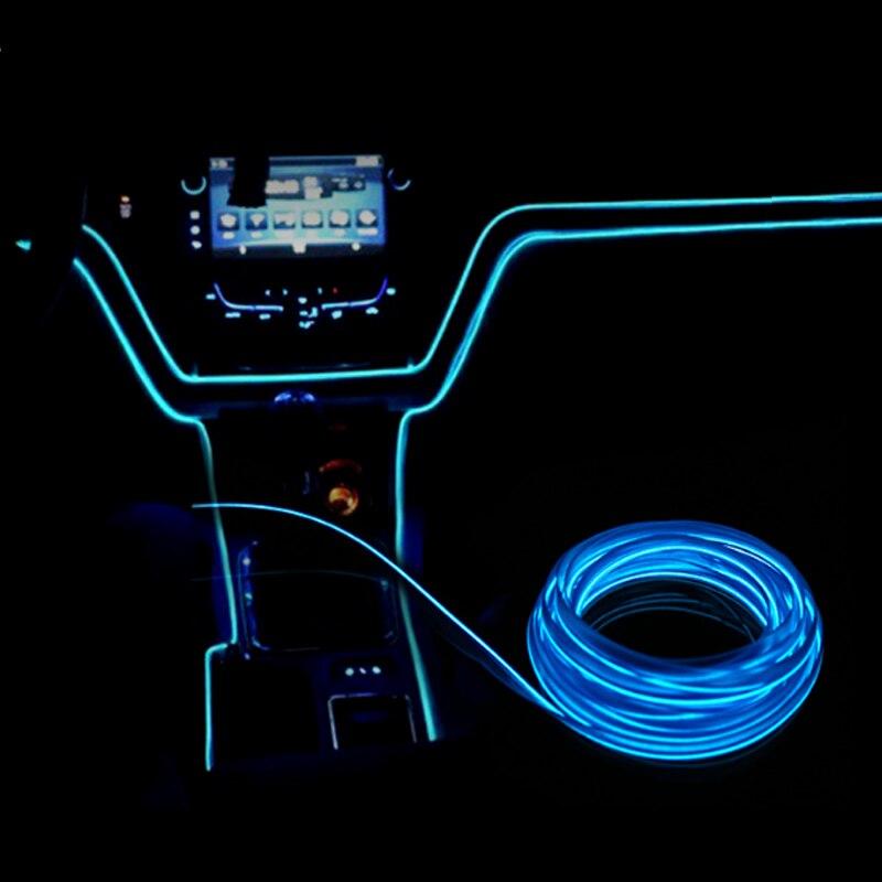 US $4.19 30% OFF EL Wire 12V Car Flexible Neon DIY Decoration Auto on