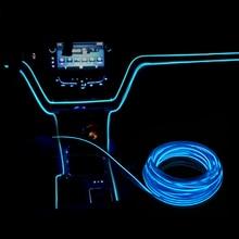 شريط مصابيح LED للسيارة مرن 12 فولت من أسلاك EL شريط مصابيح RGB لتزيين السيارة بتحكم مركزي للباب والحفلات الخارجية