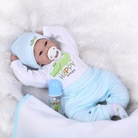 Silicone reborn baby doll toys for girls play house lifelike newborn reborn boys babies birthday present gift collectable dolls