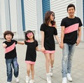 Casual Family Clothing Special Shoulder Dresses for Mother and Daughter Family Clothing T-shirt for Father and Son, CP56