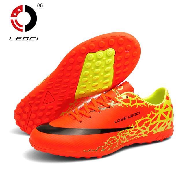 3171547db LEOCI Unisex Men Women Kids TF Football Shoes Sport Shoes Anti-Slip Turf  Soccer Boots Size 33-44