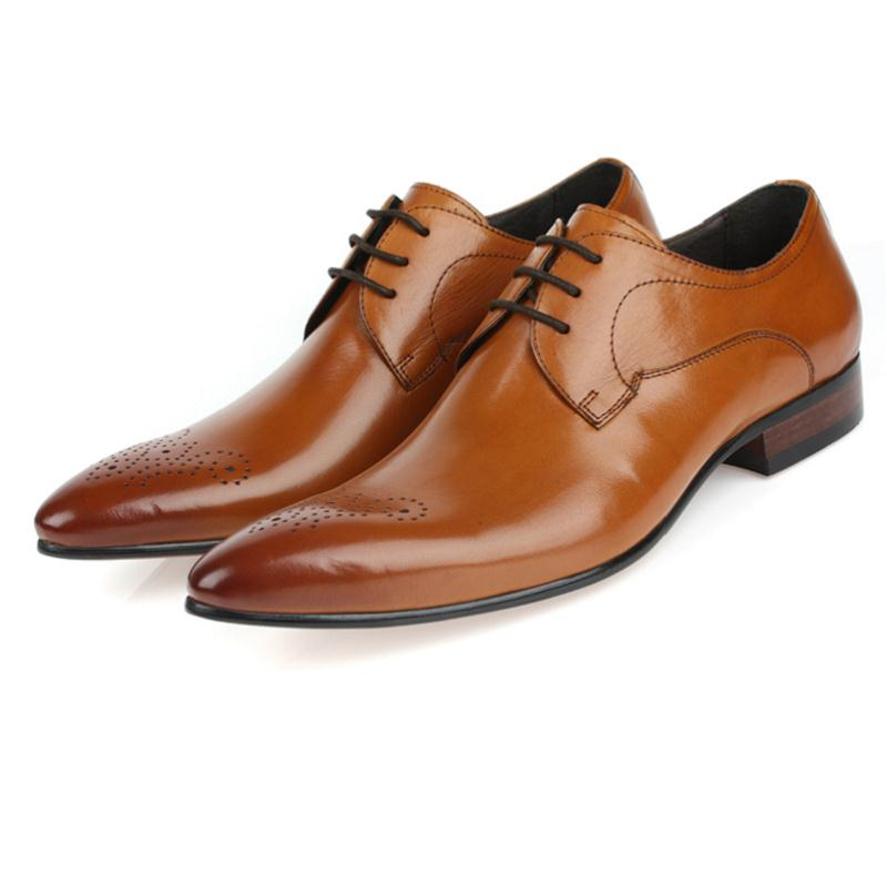 Wohnungen orange Stil England Für Schuhe Formale Schwarzes Männer Männliche Kleid Mycolen Chaussures Echtem Leder Hochzeit Geschäfts Komfortable 8a0xqw7