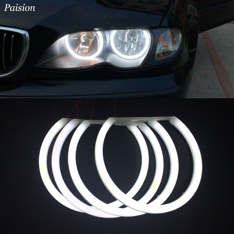 4X131MM LED Cotton Angel Eye Halo Light Error Free for BMW E46 E39 E38 E36 White