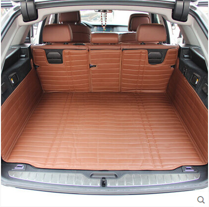 Good carpets! Full set car trunk mats for BMW 5 Series F11 2016-2010 waterproof durable boot carpets cargo liner,Free shipping