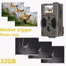 HC-300A Trail камера охота ловушка ночь vision12MP 1080 P наблюдение за дикой природой фото IP54 водостойкий 32 Гб Скаутинг животного