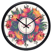 Women Lady Room Delicate Flowers Wall Clock, Modern design Brand New Discount Clock