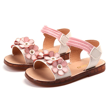 2019 New Baby Girl Summer Sandals Baby Girl Flower Soft Bottom Shoes 1-8 Years Old Children Beach Sandals Kids Shoes