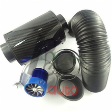 Тюнинг автомобилей Установите воздушный фильтр высокого потока углерода Волокно воздуха коробка воздушного clearner