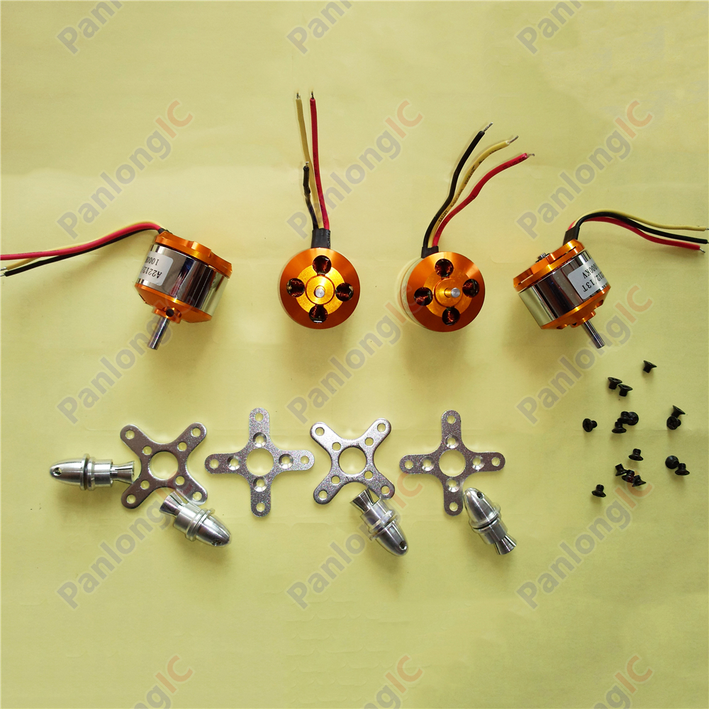 4PCS A2212 1000Kv Brushless Outrunner Motor For Airplane Aircraft Quadcopter S Free Shipping