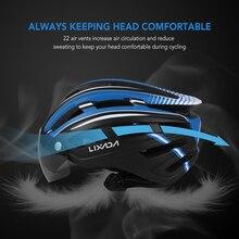 Lixada Lampu Belakang Dilepas Magnetik Visor Gunung Sepeda Helm Sepeda Motor Helm Pelindung UV untuk Pria Wanita