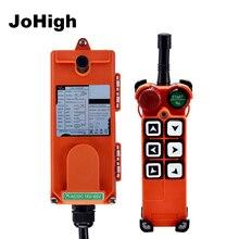 F21 E1 6 botões de controle remoto industrial ac/dc controle sem fio universal para grua guindaste 1 transmissor + 1 receptor