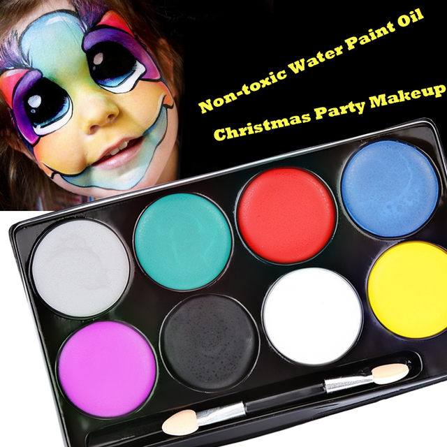 8 Colors Face Paint Halloween Makeup Non Toxic Water Paint Oil