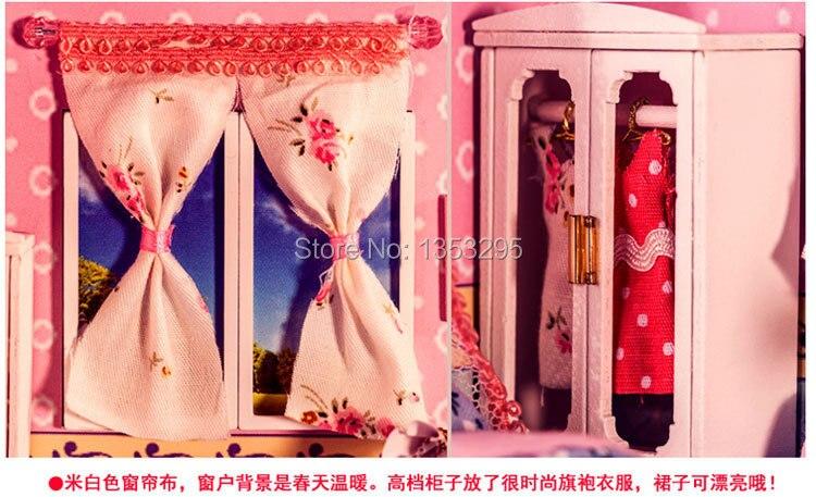 Nieuwe diy meisje slaapkamer poppenhuis geschenkdoos kerstcadeau