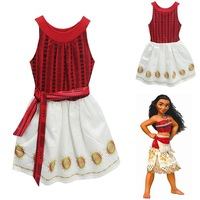 Girl Summer Dress Moana Kids Adventure Outfit Moana Princess Beach Party Cosplay Costume Vaiana Nightgown Halloween