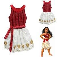 Girl Summer Dress Moana Kids Adventure Outfit Moana Princess Beach Party Cosplay Costume Vaiana Nightgown Halloween