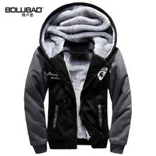 Bolubao Neue Männer Hoodie Sweatshirt Mode Britischen Stil Haube Fleece Gefüttert Dicken Warmen Weichen Trainingsanzug Männlichen Winter Hoody Mantel