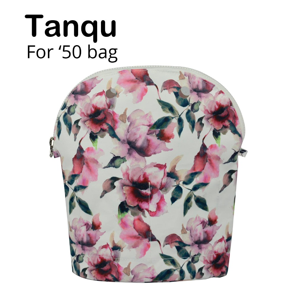 TANQU 2018 Colorful Composite Twill Cloth Inner Lining Zipper Pocket For Obag 50 Advanced Insert Waterproof Coating For O Bag 50
