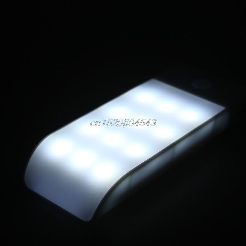 Bright 12 LED PIR Motion Sensor Light Cabinet Wardrobe Wall Lamp USB Charging R23 Drop ship