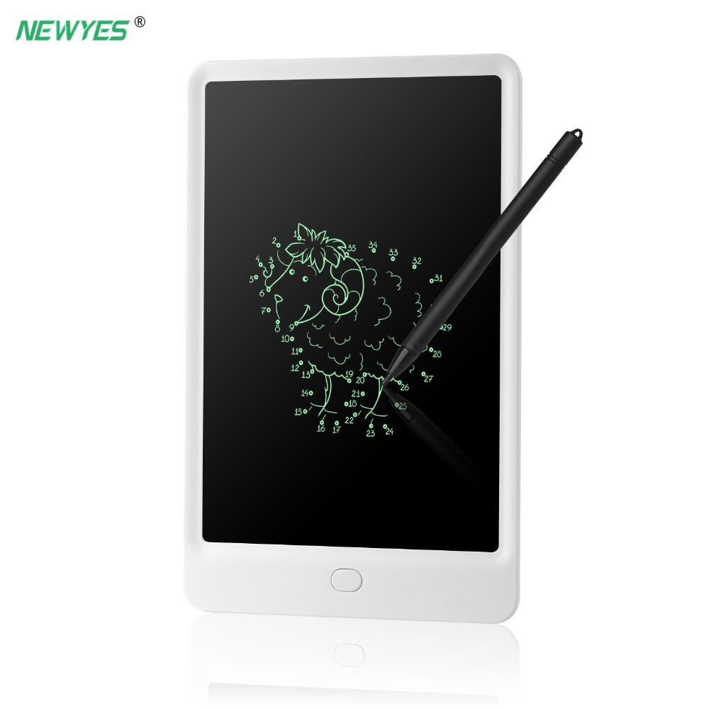 LCD Writing Tablet 10 Inch Digital Electronic Drawing Pads For Kids Portable Reusable Erasable Message Board School Office Memo