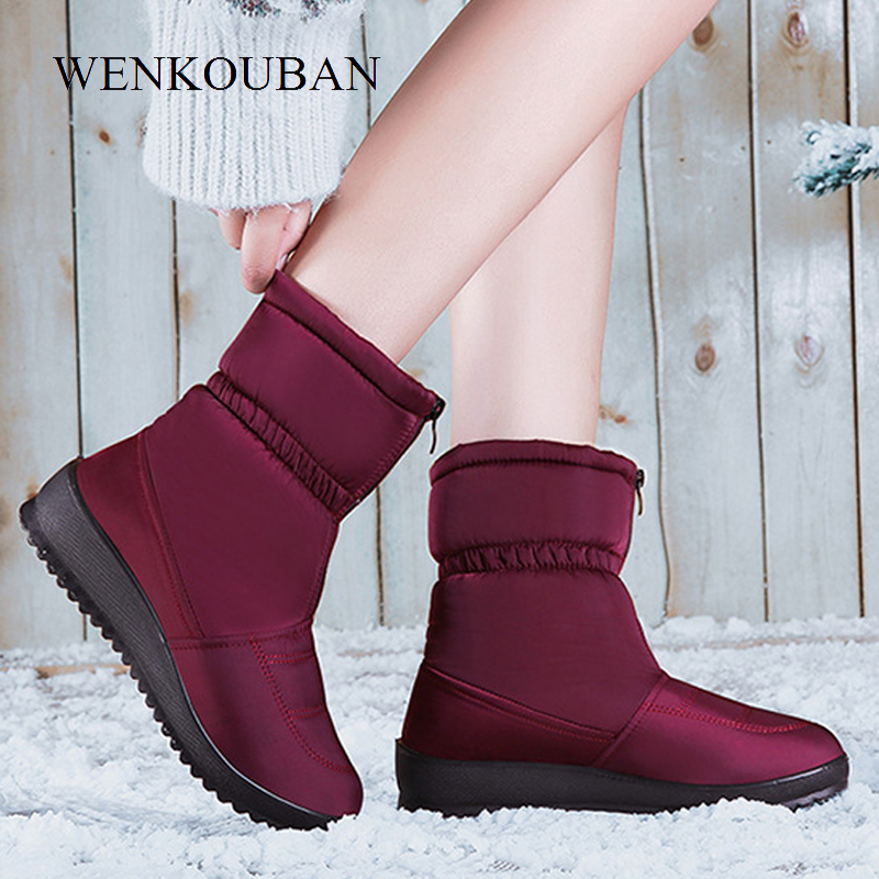 Shoes Woman Boots Women Botas Mujer Botines Mujer 2018 Winter Warm Fur Botas Feminina Bottes Femme Botines Platform Boots Fur Boots Black Knee High