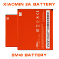 BM40 Hot sale High Capacity 2080mAh Mobile Phone BM40 Battery For Xiaomi 2A M2 M2A Mi2 Mi2A Battery